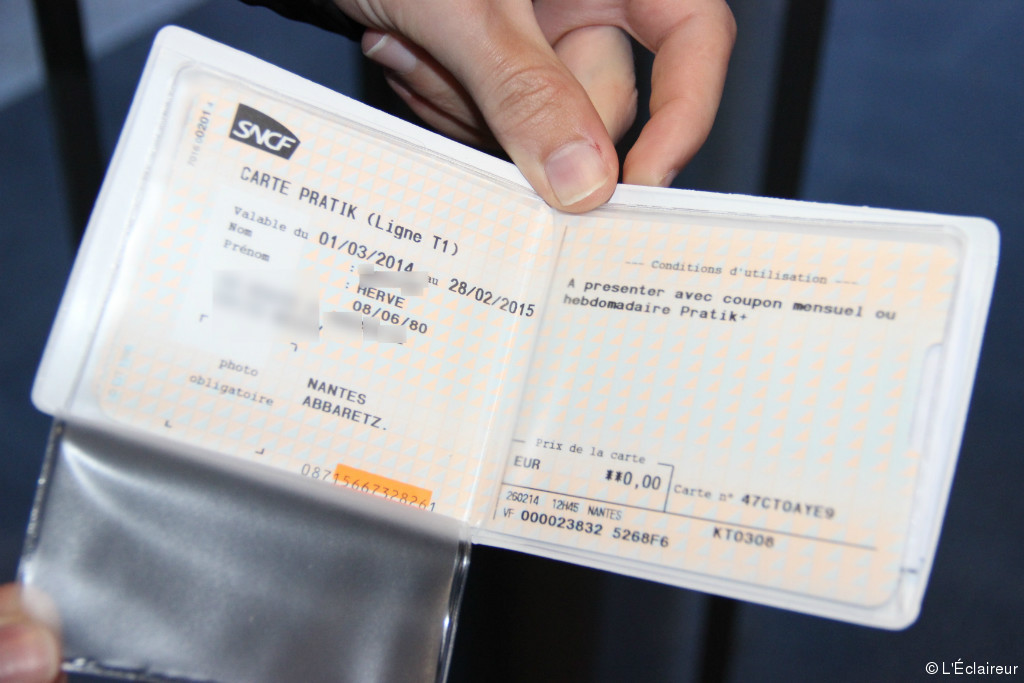 Carte de transport sncf
